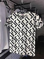 Мужская футболка - С геометрическими узорами (Чёрно-белая), фото 1