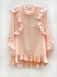 Нарядная блуза для девочки, размеры 6, 7, 8, 9, 11, 13 лет