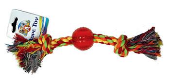 Игрушка для собак канат грейфер с мячиком 30,5*4 см Croci