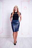 Женская юбка Рита синего цвета