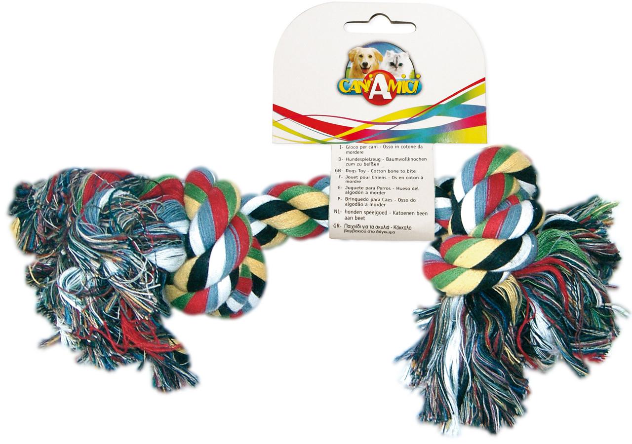 Игрушка для собак CROCI. Канат грейфер 2 узла, 24 см