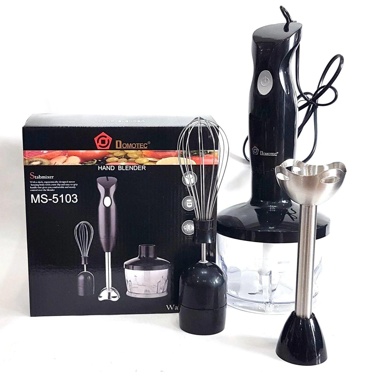 Блендер Domotec MS 5103 3в1 | Кухонный измельчитель | Шейкер | Пищевой экстрактор Домотек