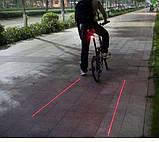 Задняя фара для велосипеда с лазерной полосой. Задний стоп., фото 3