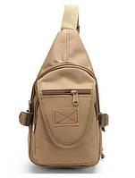 Сумка через плечо (однолямочный рюкзак) с клапаном RVL A32-песок (койот), фото 1