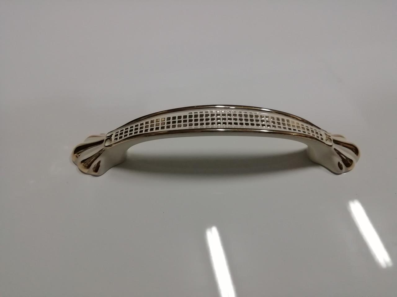 Ручка мебельная скоба GIFF 8/176/96 белый золото
