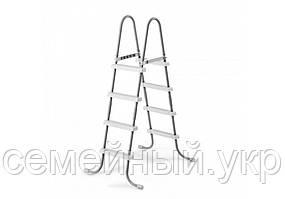 Лестница 127 см для надувных и каркасных бассейнов Материал: металл, пластик. INTEX 28066