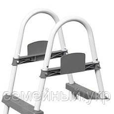 Лестница 122 см для каркасных и надувных бассейнов Материал: металл, пластик.Bestway 58336, фото 3