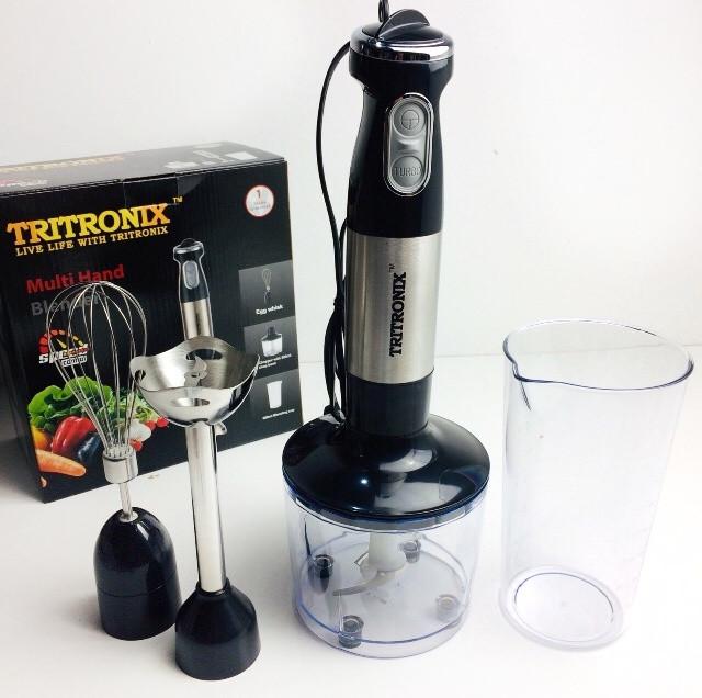 Кухонный Блендер 1000Bт многофункциональный погружной 4В1 TRITRONIX TX-HB 2094