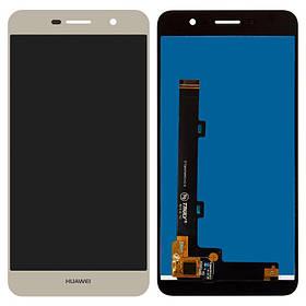 Дисплей (экран) для Huawei Y6 Pro TIT-U02 з сенсором (тачскріном) золотистый Оригинал