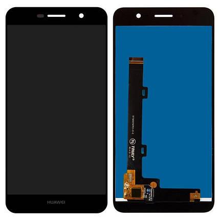 Дисплей (экран) для Huawei Y6 Pro (TIT-U02) с сенсором (тачскрином) черный Оригинал, фото 2