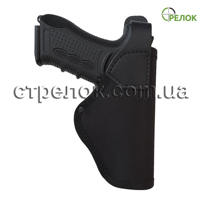 Кобура поясная Стрелок для пистолета Stalker 917 синтетика/кожа, черная