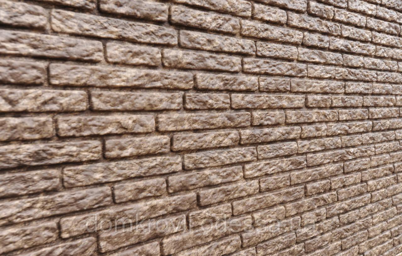 Вініловий сайдинг Stone House Кварцит коричневий