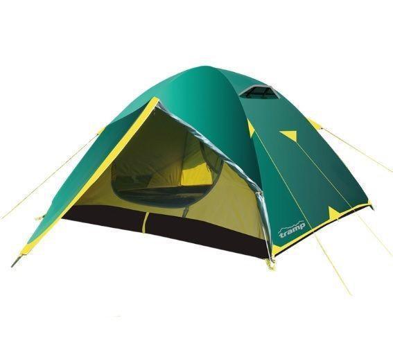 Палатка трехместная Tramp Nishe 3 v2 TRT-054 Зеленый (008925)