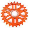 Звезда 6mm 25T фрезерованная оранжевая