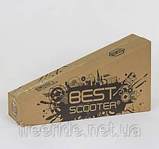 Самокат 466-113 Best Scooter MAXI, пластмассовый, 4 колеса PU, СВЕТ, трубка руля алюминиевая , d=12 см, фото 3