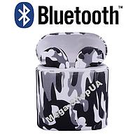Беспроводные Bluetooth наушники i7S TWS камуфляж SD2. Бездротові навушники. Беспроводні блютуз блютус наушники, фото 1