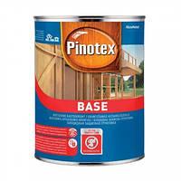 PINOTEX BASE 1 л, Защитная грунтовка для дерева (Пинотекс База, бейс) от грибков, плесени и гниения Бесцветная 1 литр, деревозащитная, для всех видов древесин