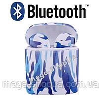 Беспроводные наушники и гарнитура Bluetooth блютуз i7S TWS камуфляж J4 для телефона. Бездротові навушники