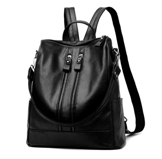 Стильні жіночі рюкзаки в чотирьох кольорах: червоний, чорний, бежевий, синій.