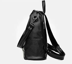 Стильні жіночі рюкзаки в чотирьох кольорах: червоний, чорний, бежевий, синій., фото 3