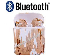 Беспроводные Bluetooth наушники i7S TWS камуфляж SD4. Бездротові навушники. Беспроводні блютуз блютус наушники