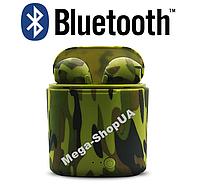 Беспроводные Bluetooth наушники i7S TWS камуфляж SD6. Бездротові навушники. Беспроводні блютуз блютус наушники