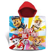 Пляжний рушник пончо з капюшоном Щенячий Патруль Скай, для дівчинки 2-6 років