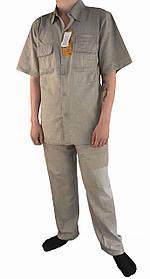 Костюм летний мужской льняной с коротким рукавом Рубашка и штаны мужские лен