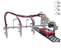 Трех резаковая газорезательная машина на рельсах HUAWEI GCD3-100 для прямой резки металла толщиной 6-50 мм