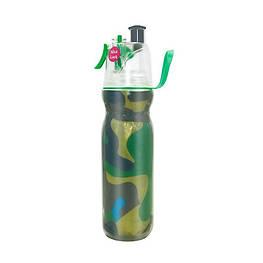 Спортивна пляшка для води з розпилювачем 590 мл Хакі