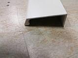 Ручка меблева профільна GAMET UA123-L40 білий матовий, фото 10