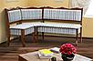 Комплект кухонний (куточок+стіл+3 табурета) Шотландія Горіх/Шотландія 1а, фото 2