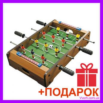 Детский настольный деревянный футбол (4 металлические ручки управления, 2 табло)  51 х 31см