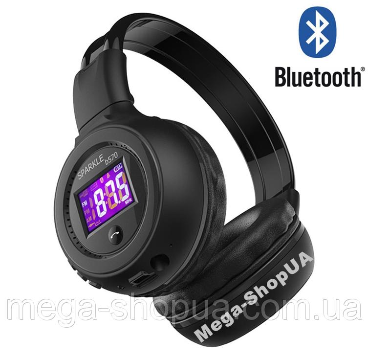 Наушники и гарнитура беспроводные Bluetooth B-570-2 / MP3 плеер / FM. Бездротові навушники. Блютуз наушники