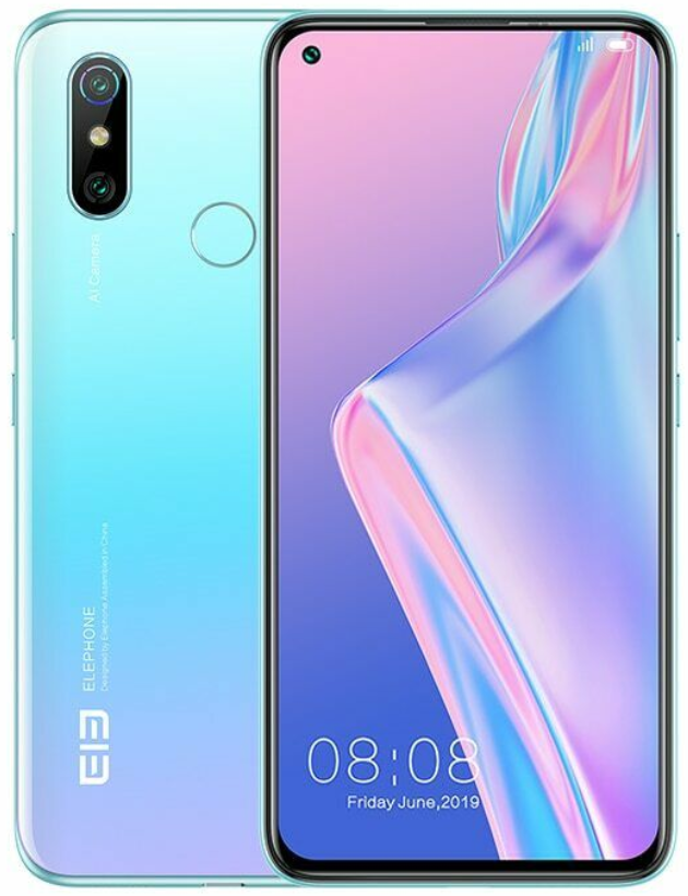 Elephone U3H 6/128 Gb blue, 4G, NFC