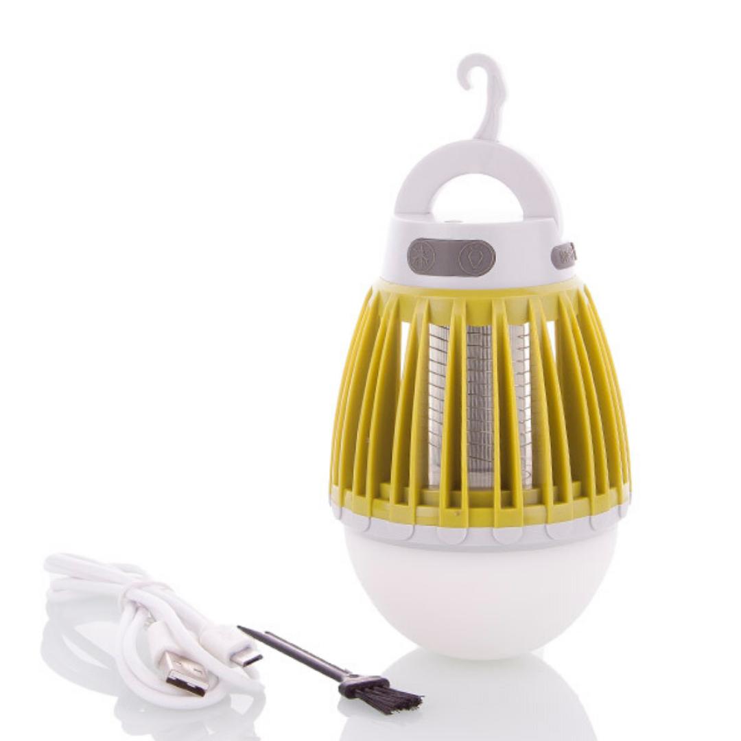 Антимоскитная лампа ловушка от комаров на аккумуляторе