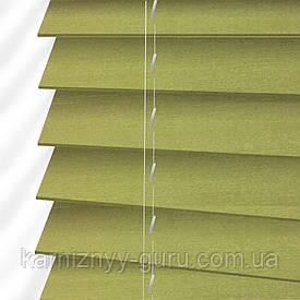 Жалюзи деревянные горизонтальные 50 мм зеленый Sundeco
