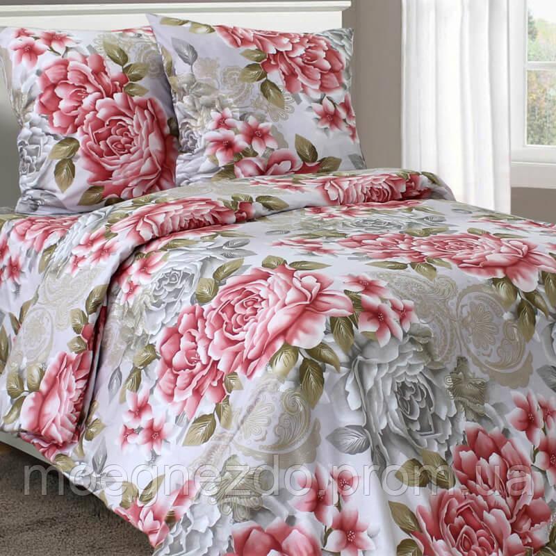 Двуспальное постельное белье бязь гост прованс розы ТМ Блакит  хлопок 120 г/м. кв.