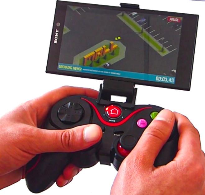 Беспроводной Bluetooth джойстик геймпад для мобильного телефона смартфона V8 PC Android iOS черный
