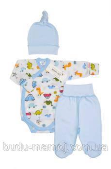 Костюм на выписку летом для новорожденного Люкс 56 размер