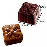 Поликарбонатная форма Квадрат с бантом для конфет, карамели, шоколада, фото 2