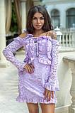 Легкое и нежное платье из прошвы на подкладе, 7цветов , р.44,46,48,50 Код 848В, фото 3