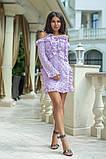 Легкое и нежное платье из прошвы на подкладе, 7цветов , р.44,46,48,50 Код 848В, фото 4