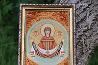 Ікона Покрова Пресвятої Богородиці 35*25 Иконы покров пресвятой богородицы из янтаря