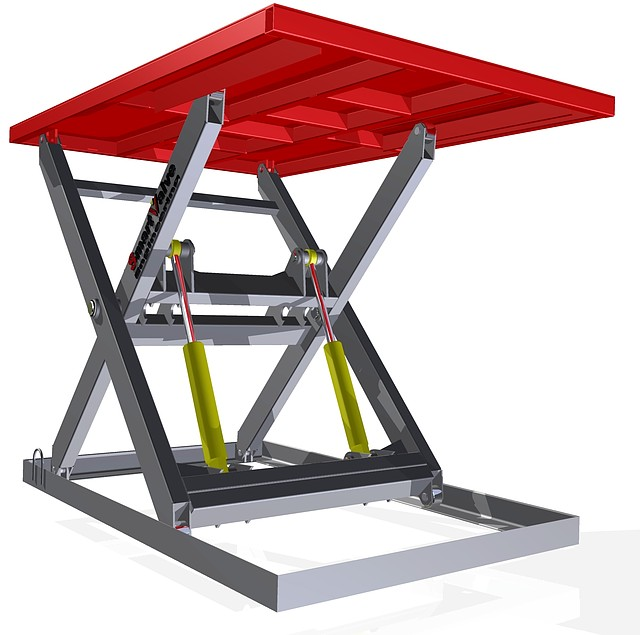 Подъемный стол г/п1т. Размеры стола 2х1,3м. Подъем 1,1м.