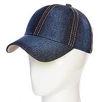 Джинсовая кепка без логотипов и надписей, Бейсболка 62017-17 темный-джинс POS-241730