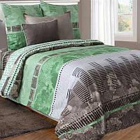 Двуспальное постельное белье бязь гост  серо-зеленое природа ТМ Блакит  хлопок 120 г/м. кв., фото 1