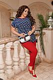 Женский костюм блуза и лосины стильный летний размеры: 50-52, 54-56, 58-60, 62-64, фото 2