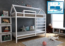 Двухъярусная деревянная кровать Джина 70х140см МегаОпт