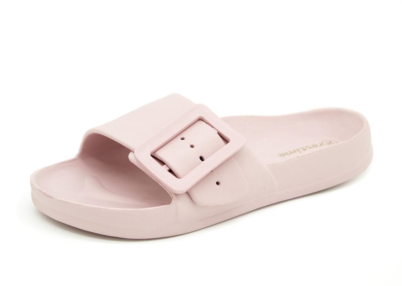 Шлепанцы Для девочек/женщин Бледно-розовый Размеры: 36,41